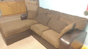 Flat Suede Chocolate Sectional