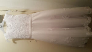 size14 youth white communion/flower girl dress