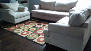 Sofa, Love-seat and Chair for sale