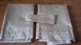 No 2 pair of cream/gold curtains
