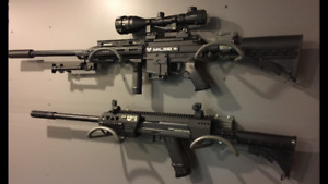Milsig DMR / FXR and 2 Tiberius 8.1 pistols / with crazy Extras