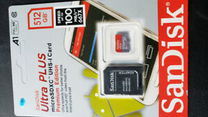 Brand  Scandisk 512GB Micro SD card with adapter