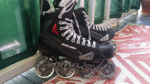 Bauer X40R size 9 (light use) Inline Rollers