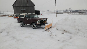1979 Ford Bronco XLT ranger with plow