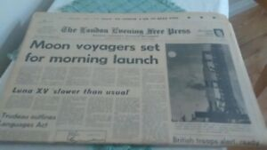 Series of newspapers for Apollo 11 space mission July 1969