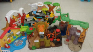 (125) Fisher Price Little People Houses $10 each