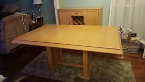 Maple  dining table  . reduced  .....