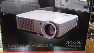 LED SMART TV PROJECTOR  - 4K  - 3D - WIFI - 72 INCH SCREEN