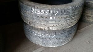 Pair of 2 Michelin Energy MXV4 S8 215/55R17 tires (55% tread lif