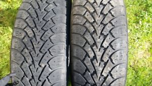 "A pair of 185/60/15"" Winter tires"