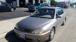 2002 Kia Spectra 4 door with only 72,000 km well cared for