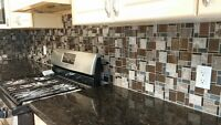 BACKSPLASH & CERAMIC FLOORING. Free quote