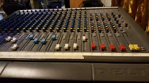 Soundcraft Delta Recording Board with power supply.