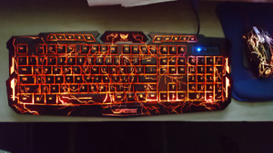 clavier couleur gamer