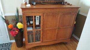 meuble televiseur rangement bois massif