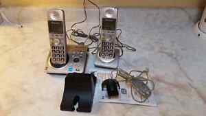 A set of Panasonic Home-Telephones with answering machine