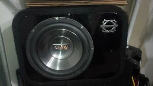 "10"" and 12"" sub in Bassworks boxes, MA Audio AMP"