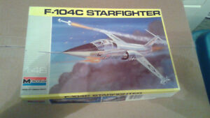 F104 Starfighter Model Kits 1/48 scale unbuilt