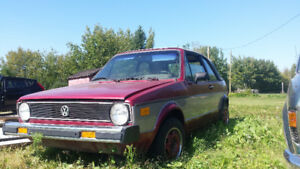 1980 Volkswagen Rabbit L Convertible Project SOLD