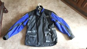 Nitro blue and black biker/racer jacket size large