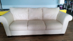 Leather sofa couch