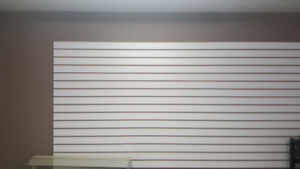 Slat wall 4x8' sheets - 4 in total - great condition