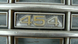 1977-80 chevrolet 454 grill stainless trim rare