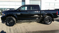 2014 DODGE RAM 1500 SPORT LIFTED, GRILLE, BOARDS & FLARES !!