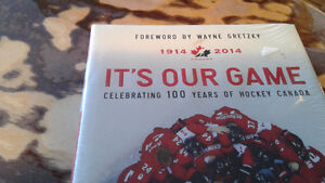 Unopened it's our game by wayne Gretzky 100 yea4s of hockey