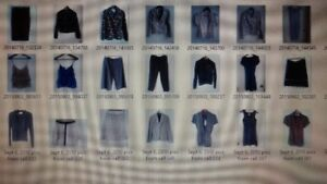 Selection of clothing in small and petite sizes