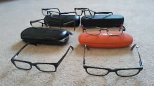 6 pairs of boys eye glasses FRAMES,  Columbia,Umbro,Crocs