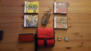 Nintendo DS with 6 ds games and case