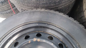 4 Uniroyal Tiger Paw Ice & Snow Studded Winter Tires with Rims