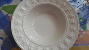 "FS: Wedgewood 6 White Home ""Festivity"" soup/cereal bowls"