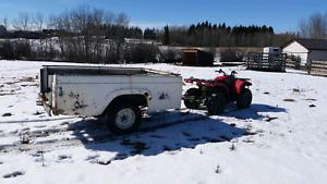 Truck box utility trailer
