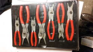 Snap on 7 piece snap ring pliers