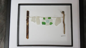 """I Love You Quilt"" beach glass art by Deb Humen"