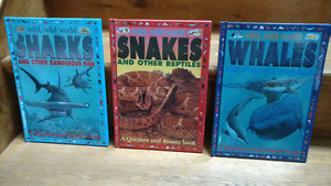 3 full colour hardcover Sharks, Snakes & Whales books