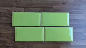 Lime Green Metro Wall Tiles x18