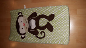 CHANGING PAD WITH MONKEY COVER