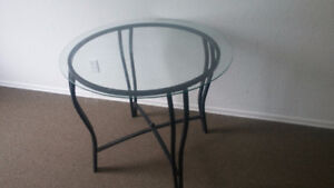 GREAT PRICE ON BISTRO TABLE WITH METAL FRAME AND 1/2 GLASS TOP