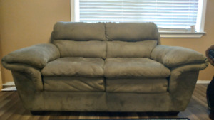 Faux Suede Couch 60$