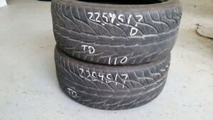 Pair of 2 General GMax AS03 225/45R17 tires (50% tread life)