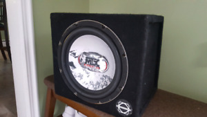 "12"" mtx sub in bassworks box"
