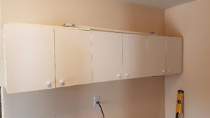 LAUNDRY CABINETS WHITE - EXCELLENT CONDITION