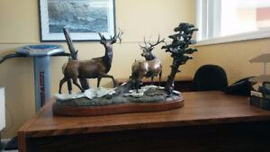 Bronze Bull Elk Coffee Table