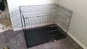 Large dog crate for sale! Used once!