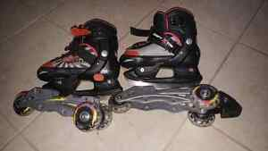 Skates and rollerblades 2 in 1