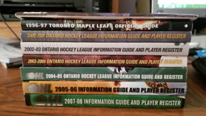 OHL Information Guide and Player Registers for Multiple Years