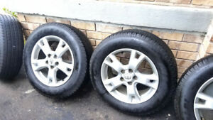 "4- 17"" OEM Rav4 Alloy rims with Michelin Tires"